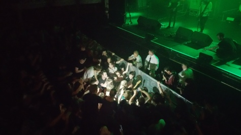 Rory Friers in the pit, Olympia Theatre 2015